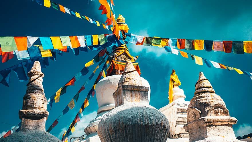 Drapeaux de prières bouddhiste