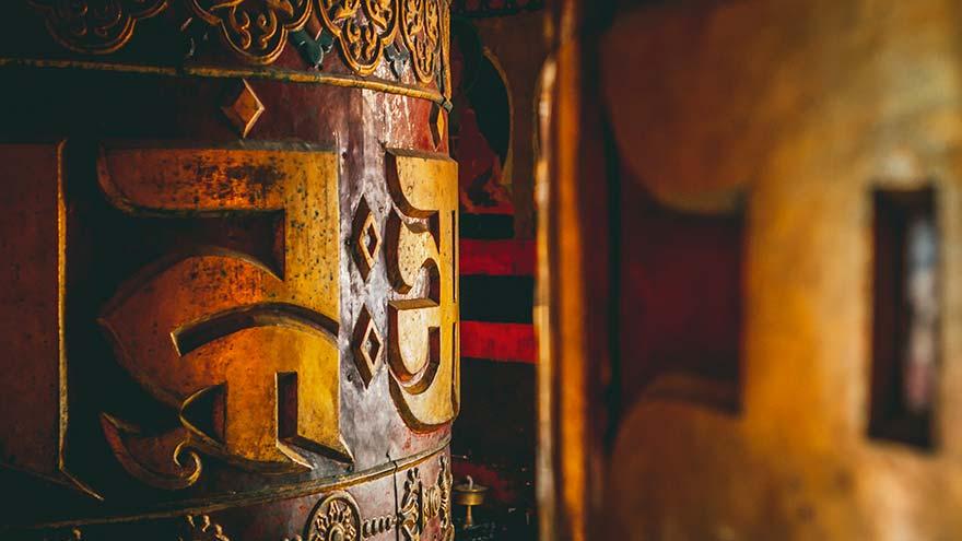 Moulins à prières Tibétains